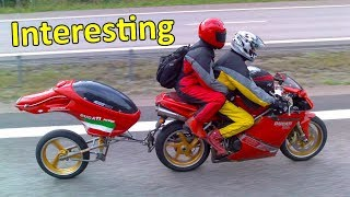 Motorcycles pulling trailers