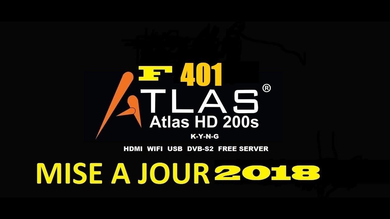 mise a jour atlas hd 200s f401