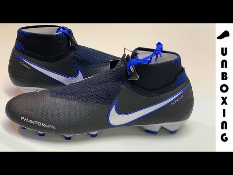 6cf09bd58 Nike Phantom Vision Elite DF FG Always Forward - Black Metallic  Silver Racer Blue