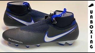 4e72e53cff26 Nike Phantom Vision Elite DF FG Always Forward - Black Metallic  Silver Racer Blue ...