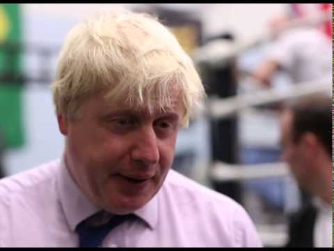 Boris Johnson steps into the ring for North Woolwich boxing academy visit