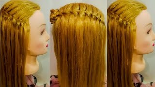 водопад прическа для себя Техника прически обучение hairstyle быстрые легкие модные  Елена Заитова