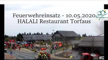 FEUER IM HARZ - HALALI RESTAURANT TORFHAUS - Feuerwehreinsatz 10.05.2020 Torfhaus im Oberharz