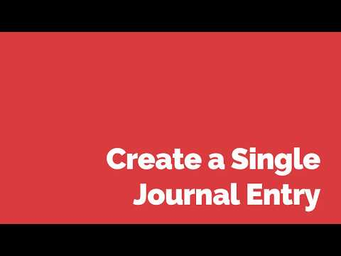 How to Create a Single Journal Entry in Oracle E-Business Suite