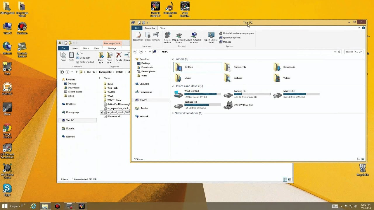 Windows 8 & 10 - Mount an ISO File as a virtual CD or DVD drive