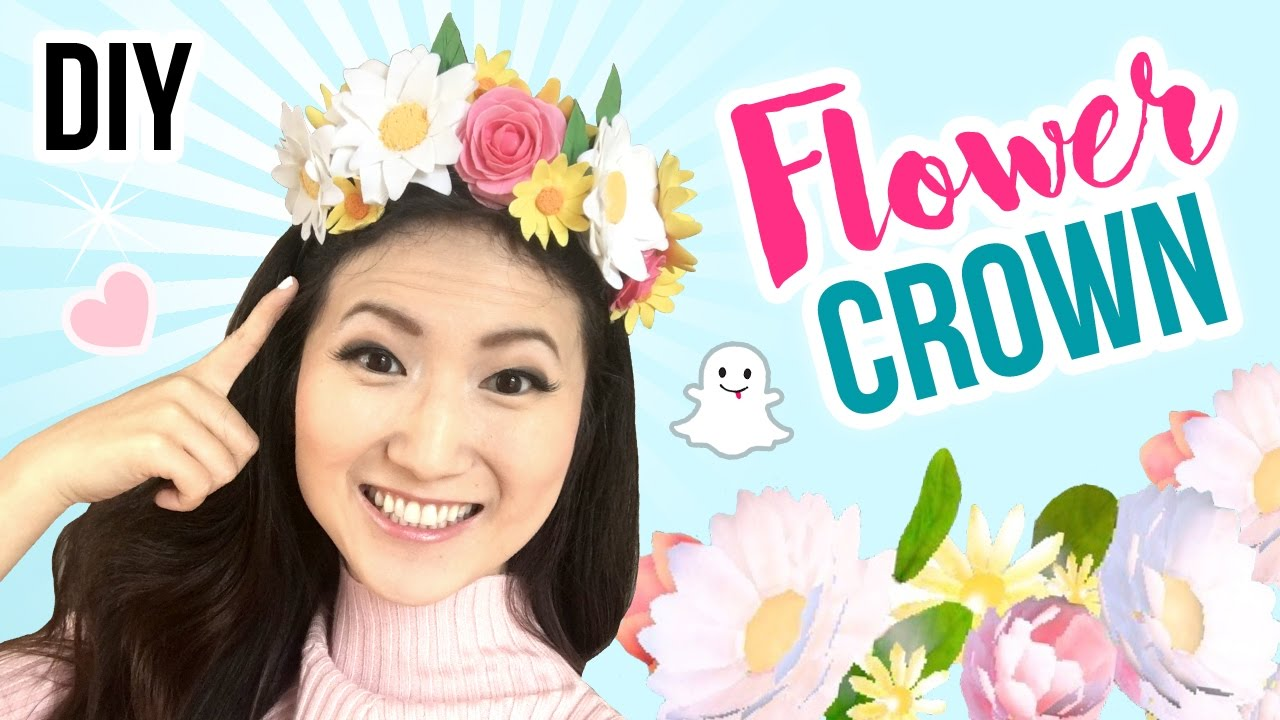 Diy snapchat flower crown cute cheap last minute diy halloween diy snapchat flower crown cute cheap last minute diy halloween costumes youtube izmirmasajfo