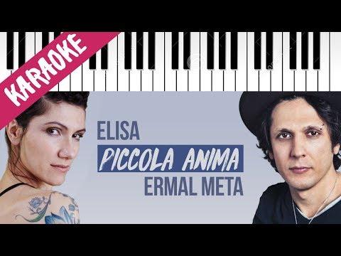 Ermal Meta feat. Elisa | Piccola Anima // Piano Karaoke con Testo