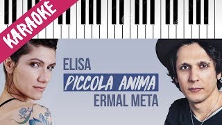 Ermal Meta feat. Elisa   Piccola Anima // Piano Karaoke con Testo
