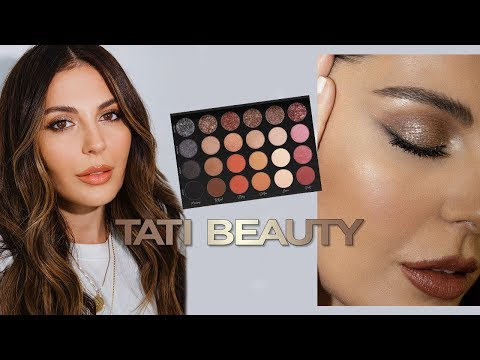 First Impressions Tati Beauty | Bronze Glitter Makeup Tutorial thumbnail