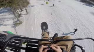 People Falling Off Ski Lifts Compilation Part 1