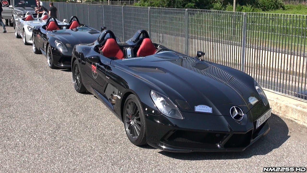 11x Mercedes McLaren SLR Stirling Moss Together! Start Up, Revs U0026 More!    YouTube