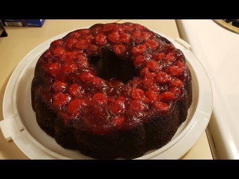 Super Easy Chocolate Cherry Cake
