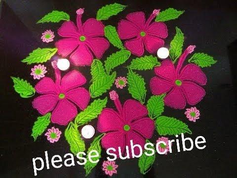 Very very easy beautiful rangoli
