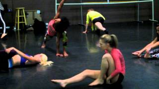 YOUNG ICONS TV REHEARSAL KELLI BERGLUND and Dancers Warming UP.mov