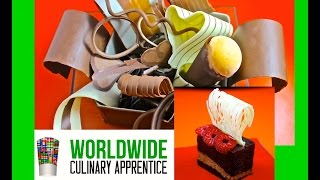 White Chocolate garnish - Desert Plating - Chocolate decoration