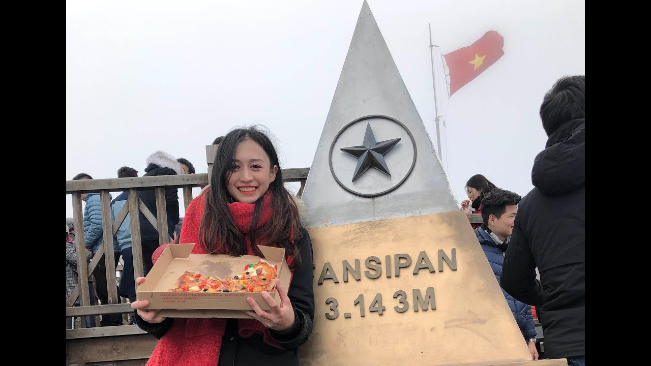 Hành trình lên đỉnh núi cao nhất Việt Nam, Thử thách Ăn Pizza ở độ cao 3143m | Trần Minh Phương Thảo