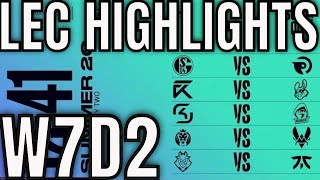 LEC Highlights ALL GAMES Week 7 Day 2 Summer 2020 League of Legends EULEC