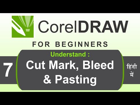 CorelDRAW Tutorial in Hindi for beginners with Practical way Part 7 | Cut mark, bleed and pasting