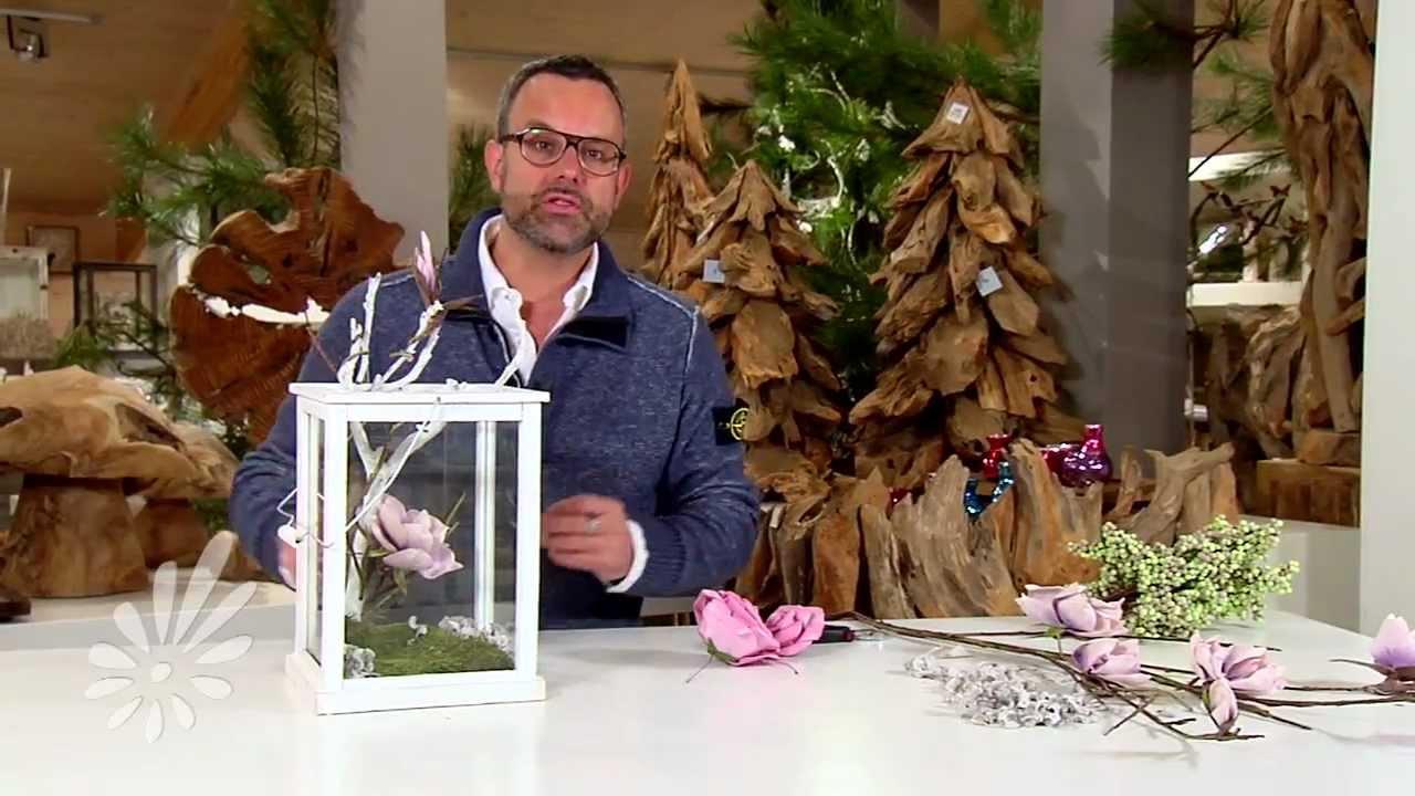 Lantaarn decoreren met takken en bloemen met Romeo Sommers   YouTube