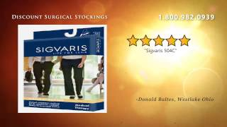 Sigvaris 504C Natural Rubber Knee High 40-50mmHg Open Toe -