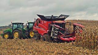 Wtopa za wtopą ale kukurydza sypie się dalej! W polu maszyny Case IH i John Deere