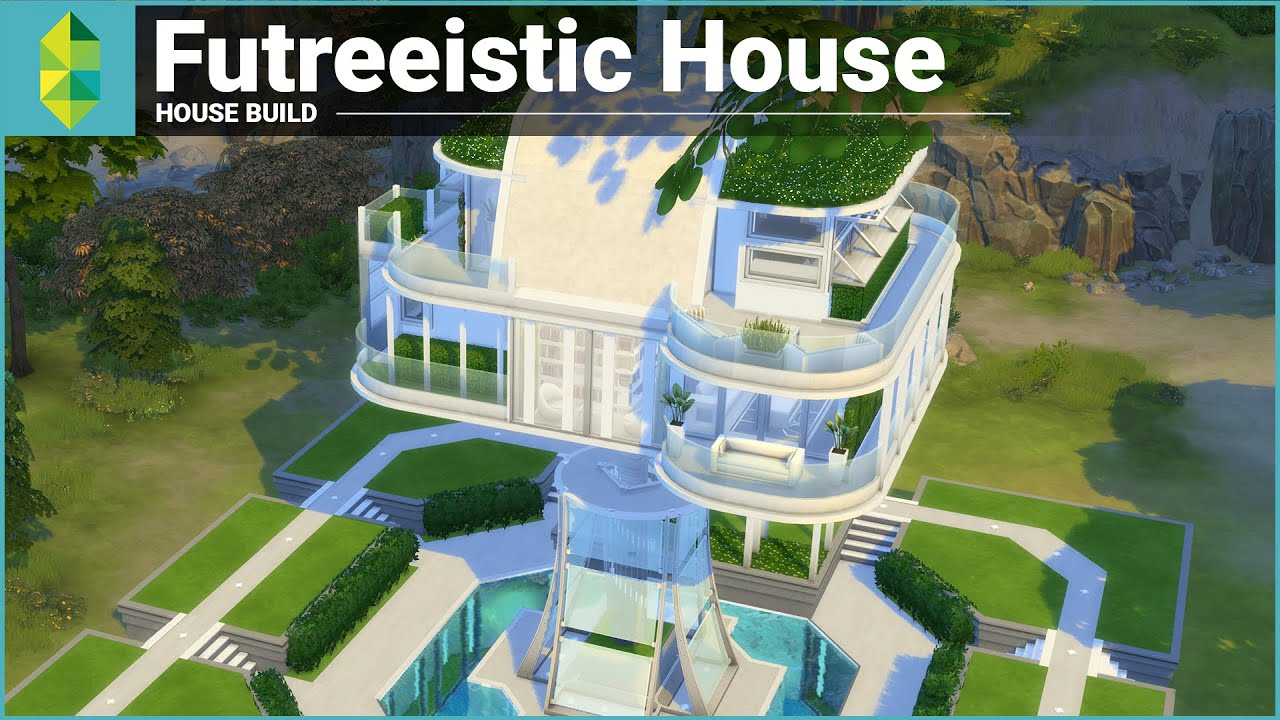 The Sims 4 House Building  Futreeistic House Youtube