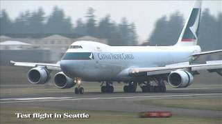 Cathay Pacific's First Boeing 747-8F - The World's Largest Commercial Air Freighter