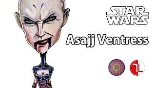 Star Wars: Asajj Ventress Caricature - Speed Drawing