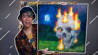 I painted that Minecraft skull painting in real life