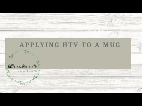 Using HTV Vinyl on a Mug | Cricut Tutorial