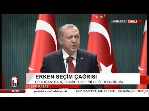 Türkiye seçime gidiyor... Erdoğan erken seçim tarihini açıkladı