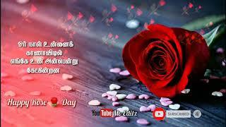 Tamil Watsapp Status 🌹 Roja Roja🌹Rose day special 🌹Kaadhalar Dhinam🌹