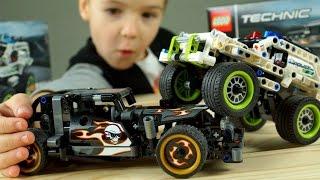 гоночные Машины Lego Technic !!! про Машинки, Полицейский Джип - Видео для Детей