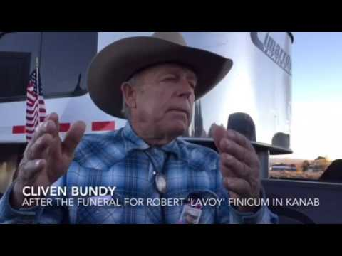 Cliven Bundy speaks after Kanab funeral for LaVoy Finicum