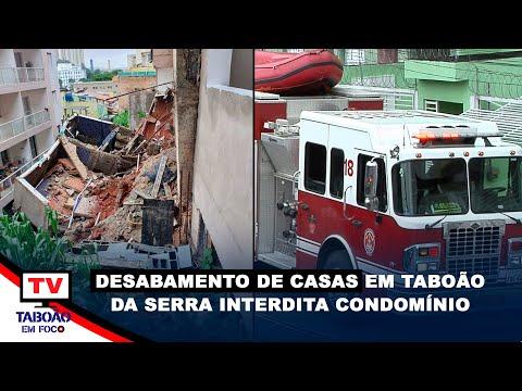 Deslizamento de terra ameaça derrubar casas no Parque Assunção             #CoberturaCompleta