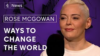 Rose McGowan on Weinstein, growing up in a cult and running for President