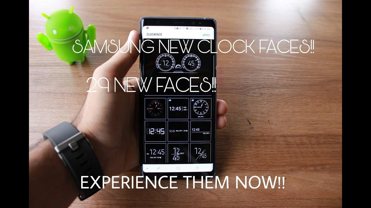 Samsung New Clock Styles(AOD+LOCK SCREEN)!! *Android 8 REQ*
