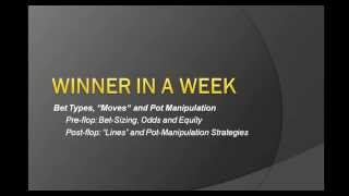 Poker Betting Strategy, Bet Types, Moves, Lines and Pot Manipulation EPK 039