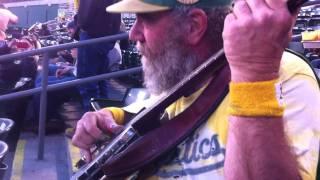 Banjo Man visits the RF Bleachers