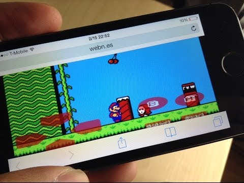 webNES - a browser based NES emulator for the iPhone and mobile devices