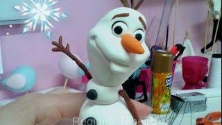 OLAF de FROZEN - Boneco de Neve - Tutorial em biscuit por Regiane Ribeiro