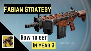 Destiny   Lost Exotics - How to get Fabian Strategy in year 3