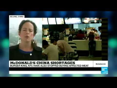 McDonald's China shortage due to affected meat