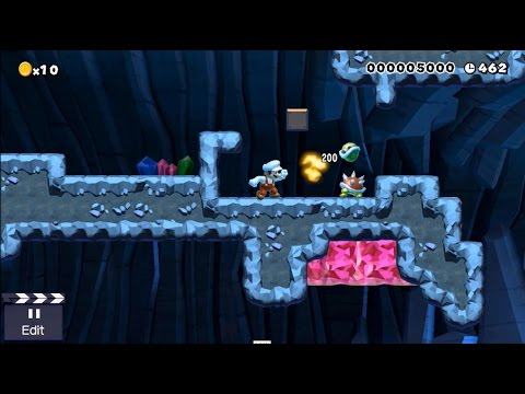 Super Mario Maker - My first Level - Wall Kicks 64 |