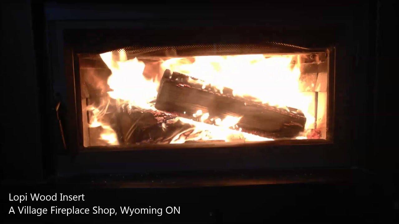lopi flush woodburning insert youtube