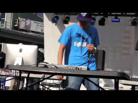 KRNFX Beatboxing live at Toronto's Yonge & Dundas Sq. at Herbie Day 2012