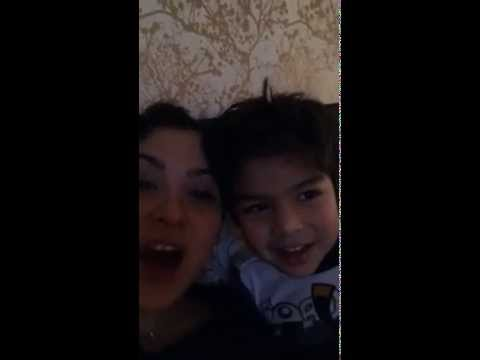 Jaci Velasquez and her son Singing to you