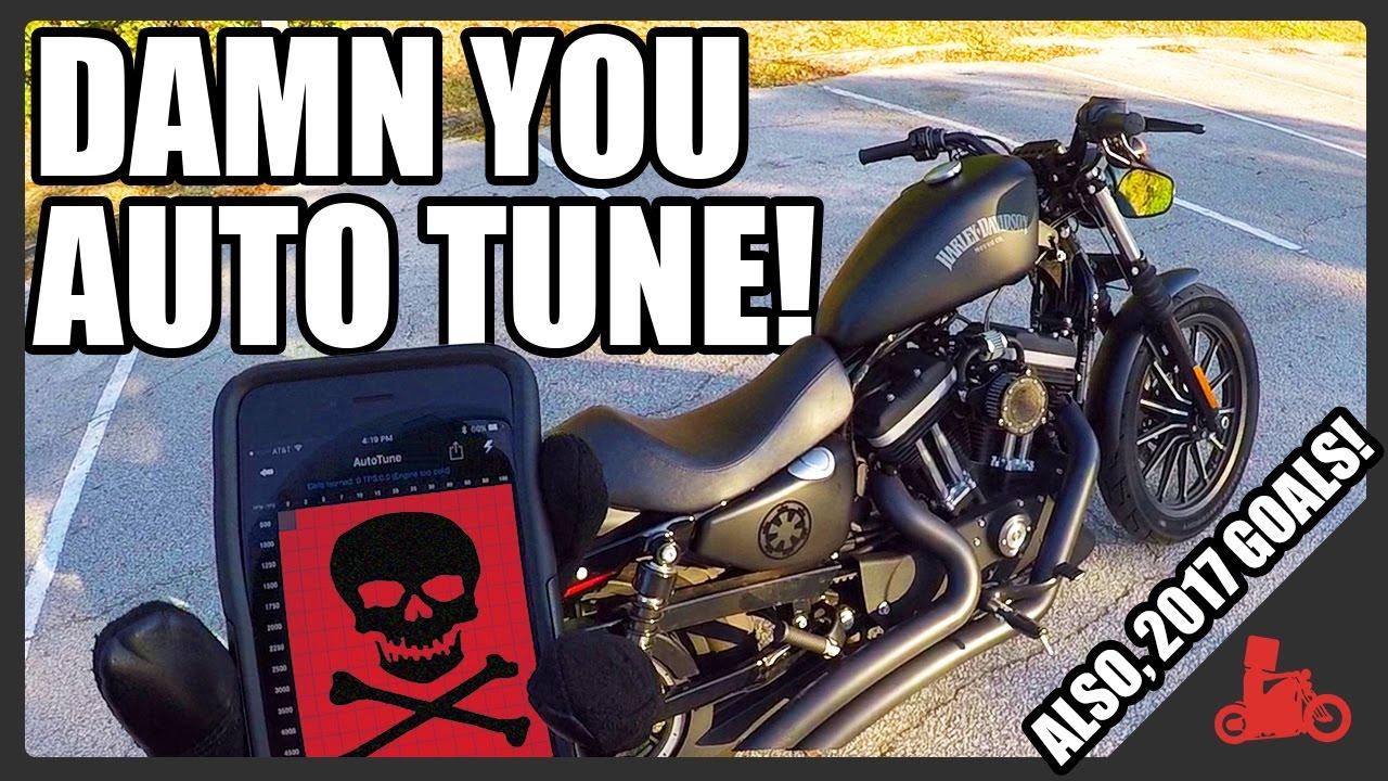 AutoTune Probs, AGAIN! +2017 Goals! - Harley Iron 883