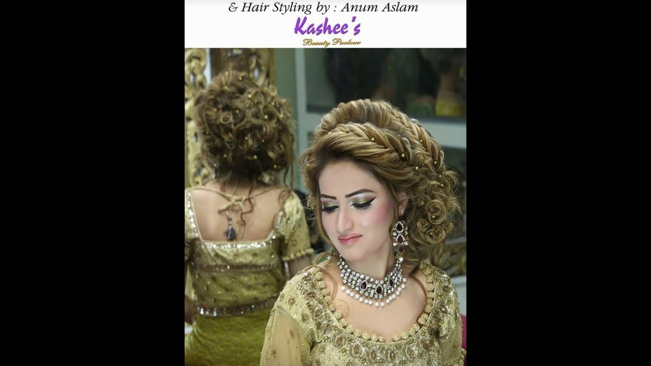pakistani bridal hairstyle step by step full tutorial - youtube