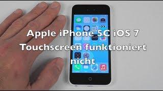 iPhone 5 5C 5S iOS 7 Anleitung: Touchscreen funktioniert nicht
